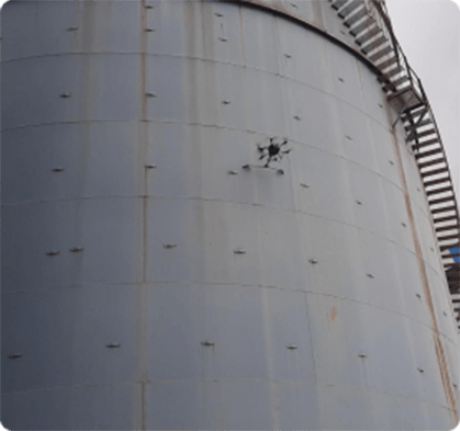 Image of a drone inspecting the asset